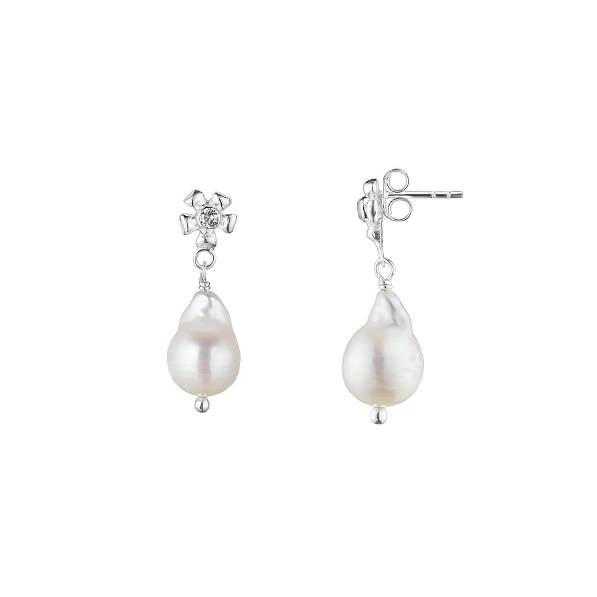 Malva Flora drop earrings – Baroque Pearl
