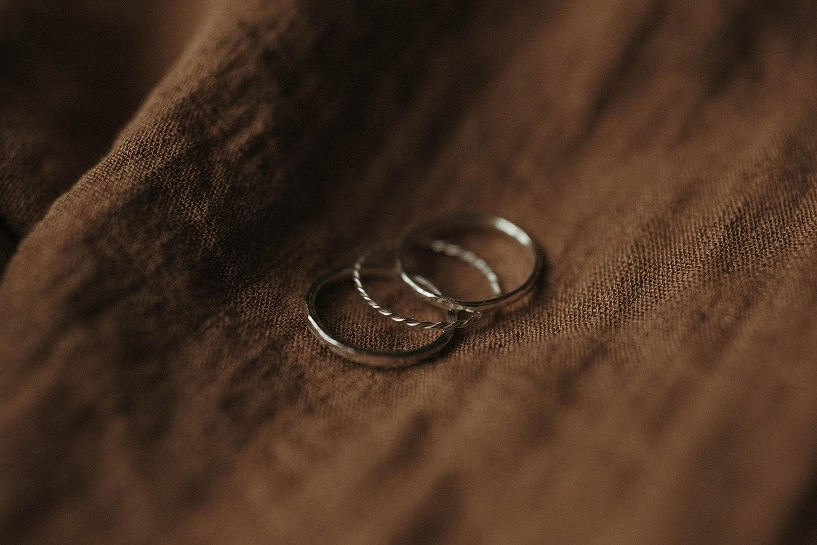 Set of 3 textured eco silver stacking rings