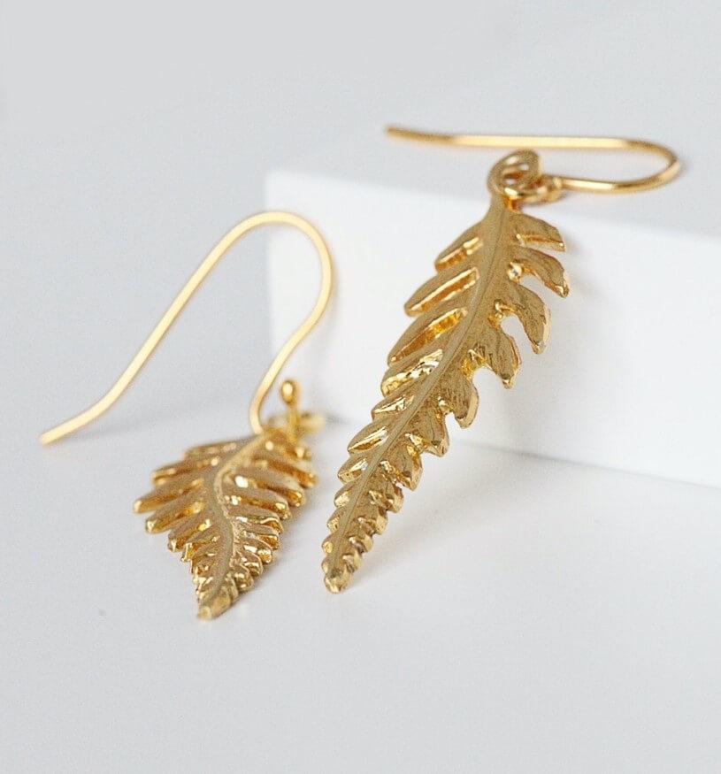 Elegant Fer Leaf Drop Earrings