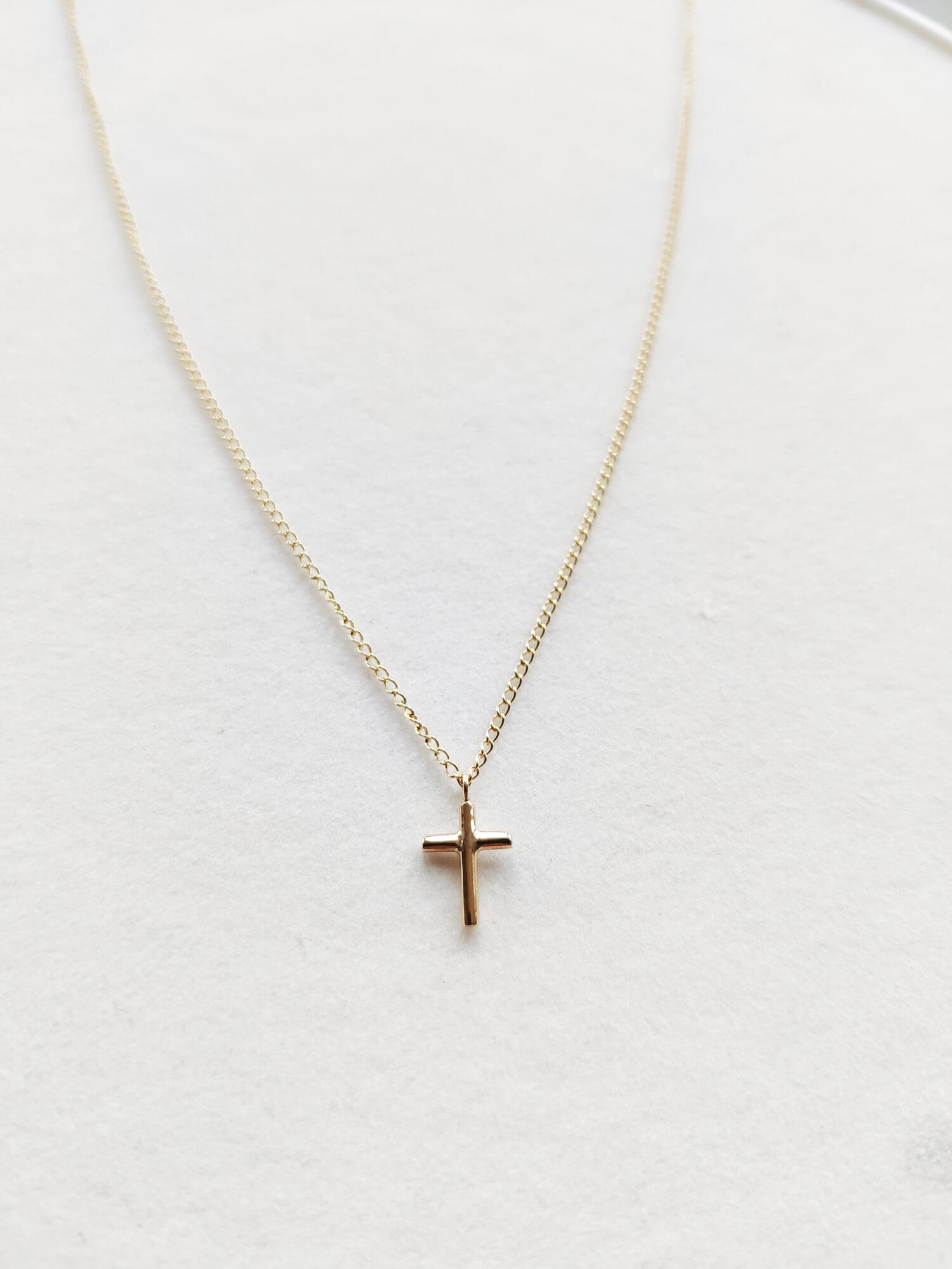 Petite Gold Cross Pendant