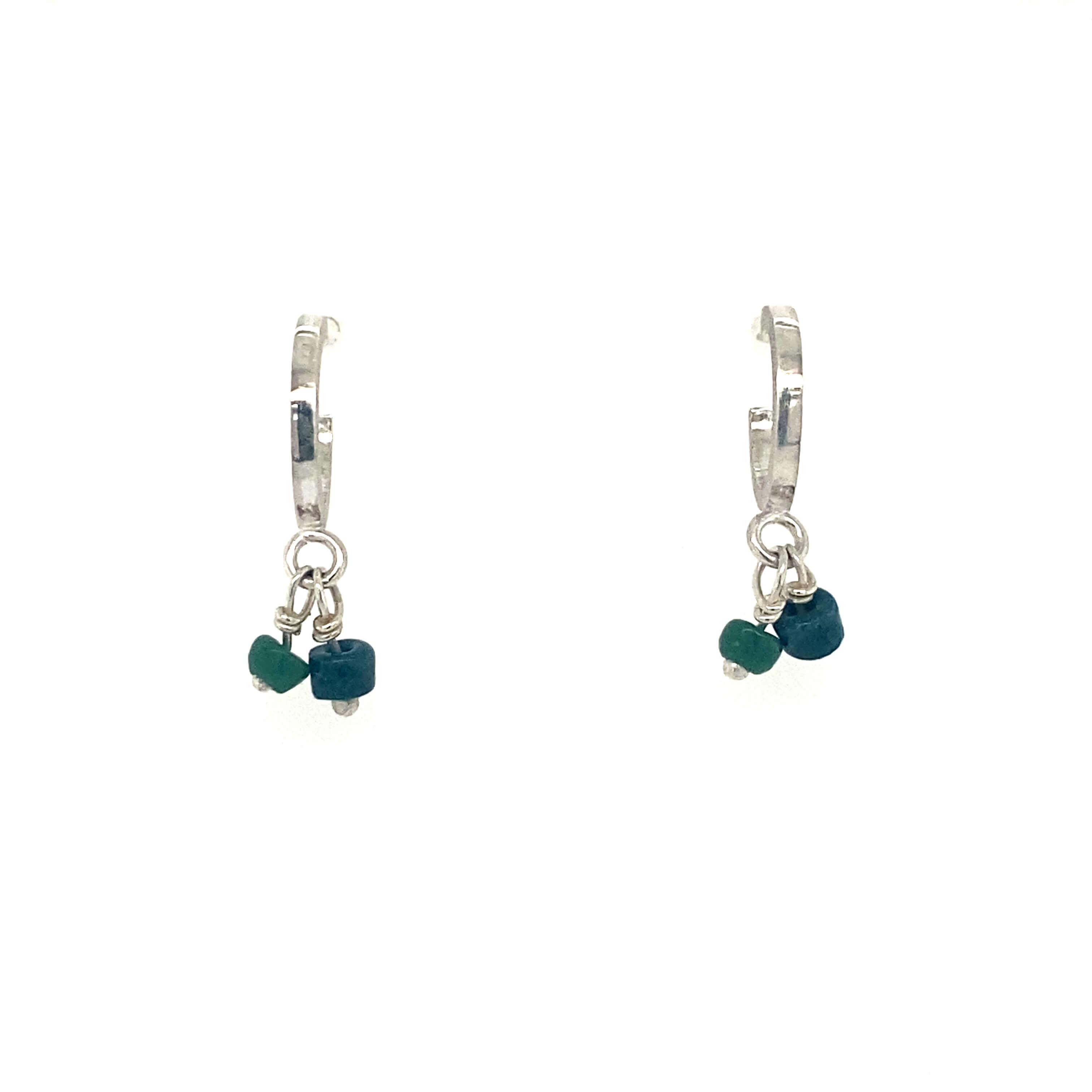 Small hoops Earrings - green