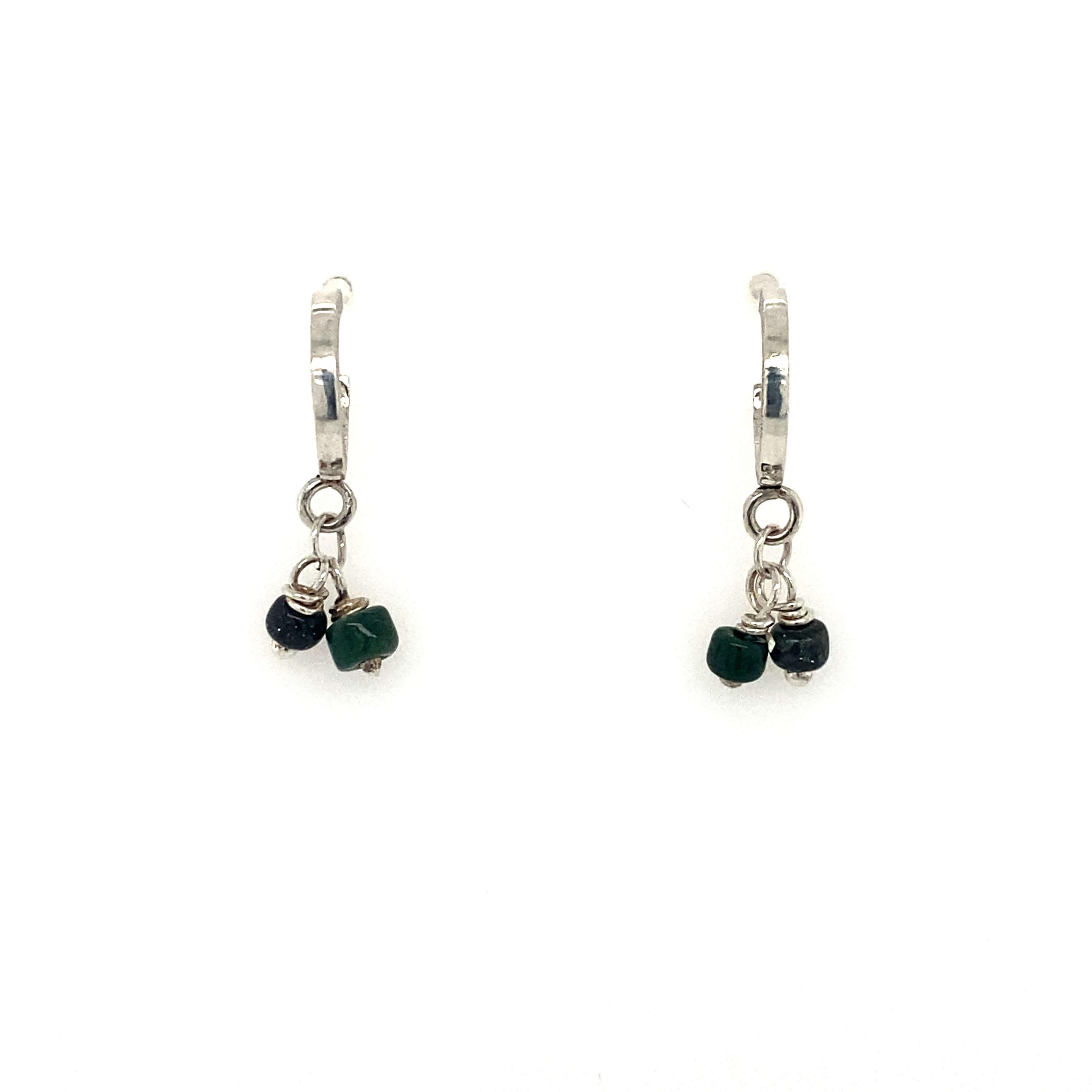 Small Hoops Earrings - moss