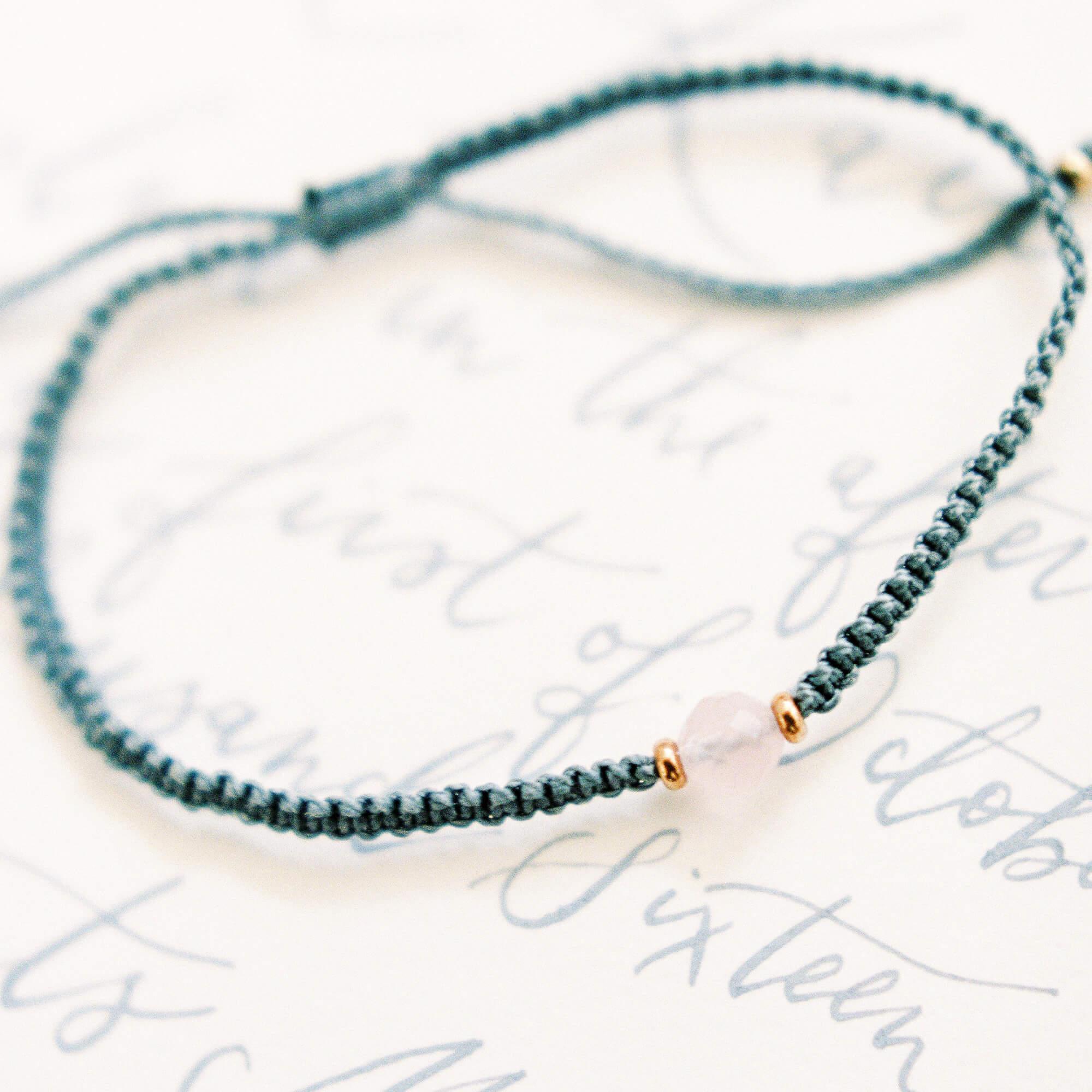Gemstone and gold bead bracelet