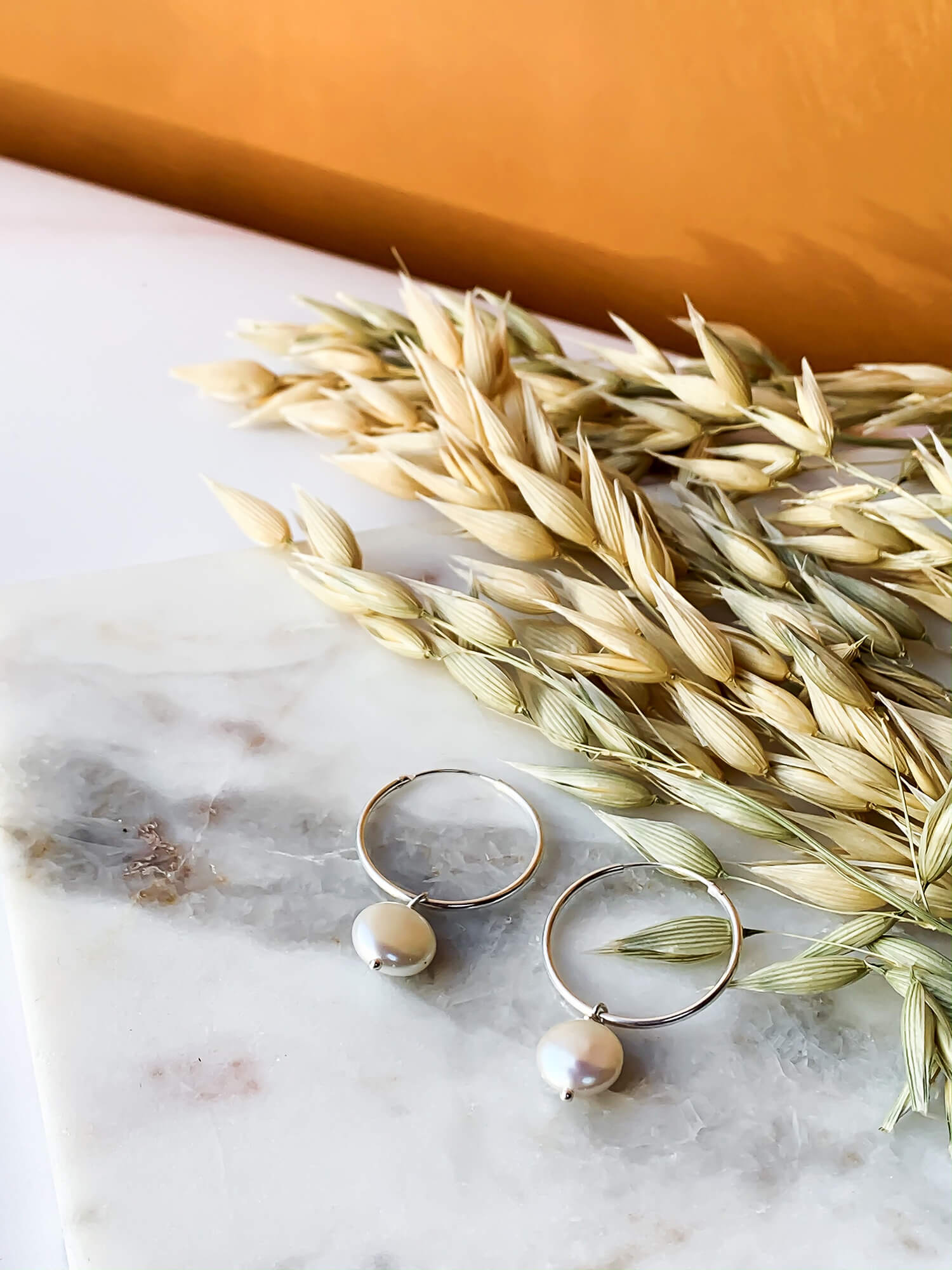 Lydia Earrings - Pearl
