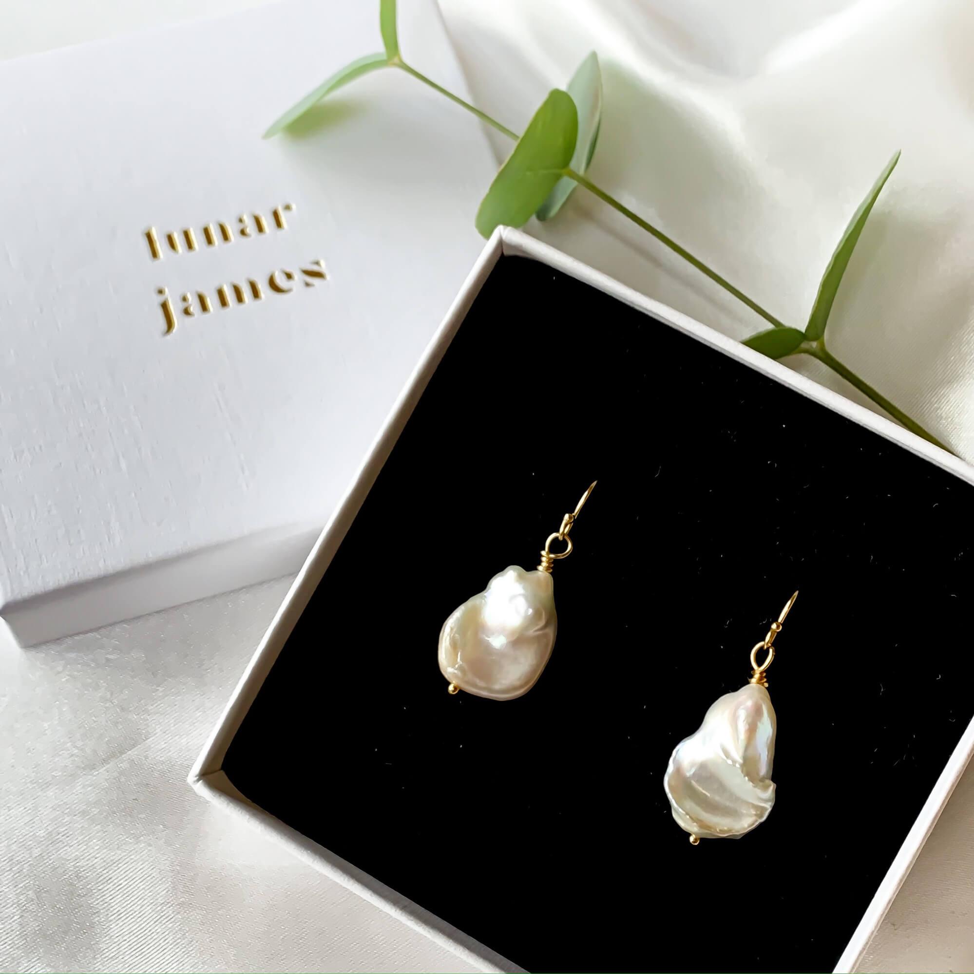 Silky Keshi Pearl Earrings