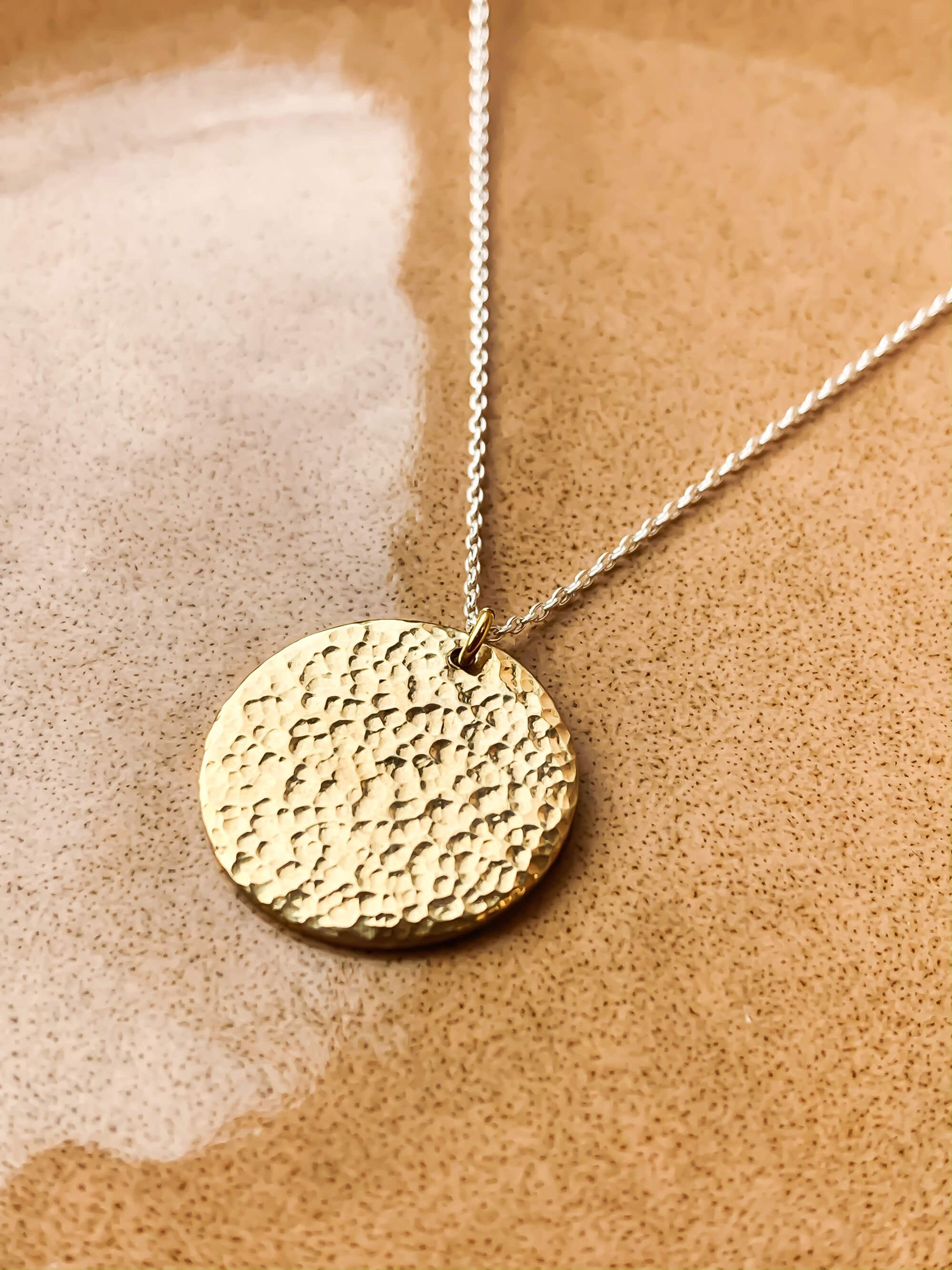 Sandra Necklace - Eco Silver with Brass