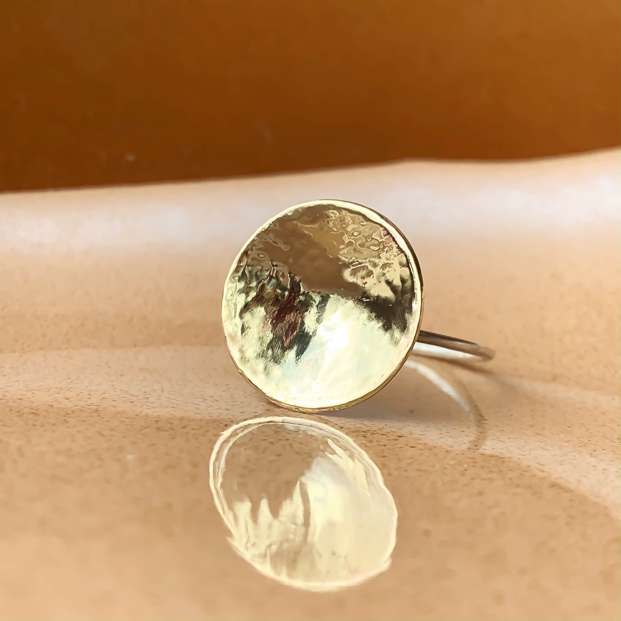 Circla Ring - Eco Silver with Brass